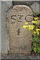 WV6647 : Old Milestone, A5, Green Road (Ancien jalon) by Alan Roseveer